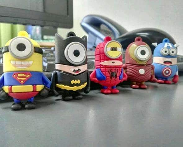pendrive minions superhéroes